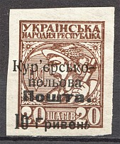 1920 Ukraine Courier-Field Mail 10 Грн on 20 Ш (CV $125)