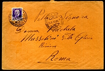 1939: Cover addressed to Rachela Mussolini