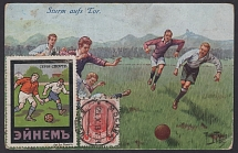 1913. Maximum card on the topic - Football. (everything is beautiful, but the st