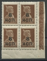 No. 181A, corner block, MNH. No. 181A, MNH, corner block, catalog = 52500 rubles