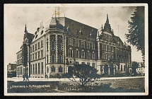 1936 The Main Post Office of Oldenburg Photo postcard