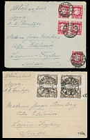 Soviet Union 10TH ANN. OF THE OCTOBER REVOLUTION: 1927, set of seven covers