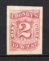 2c `Grosby's` New York City Post, USA, Local