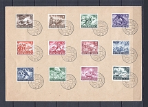 1943 Third Reich cover with full set forces and special postmark German - Italian culture day