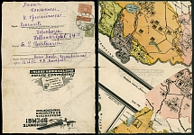 Soviet Union, 1931, advertising envelope (air post promotion), Moscow to Denmark