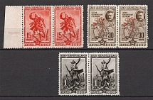 1940 USSR The 20th Anniversary of Fall of Perekop Pairs (Perf, MNH/MVLH)