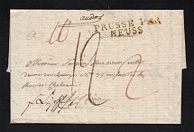1807 Cover from Memel to Paris, France