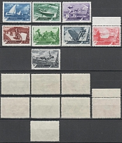 1949 USSR. Sport. Solovyev 1410 - 1417, Type I. A series of 8 stamps. Condition