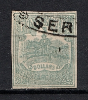 1861-62 3D Pony Express USA, Local (Canceled)