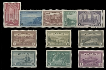 Canada, 1938-46, Definitive and Peace issues, 10c-$1 and 8c-$1