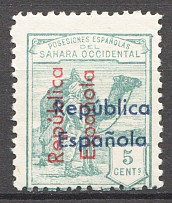 1931-32 Spanish Sahara Double + Inverted  + Different Color Overprint