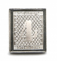 1843 Switzerland 4 Rp (Sterling Silver Miniature, Greatest Stamps of The World)