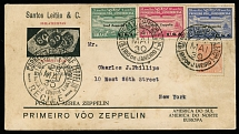 Brazil Air Post Semi-Official issues May 24-31, 1930, 1st SAF, Rio-Lakehurst