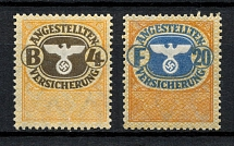 Employee Insurance Revenue Stamps, Germany (MNH)