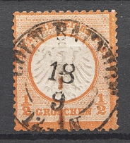 1872 Germany 1/2 Gr (CV $65, Cancelled)