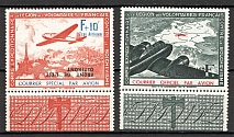 1942 Germany Reich French Legion Airmail (Inverted Overprints, Full Set)