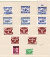1942-44 Germany Reich Feldpost Group (2 Scans, Full Sets, MNH)