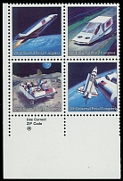 United States 1989, Futuristic Mail Delivery, light blue engraved color omitted