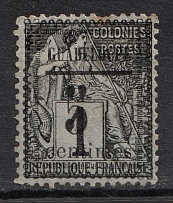 1882 1c Guadeloupe, French Colonies (CV $20)