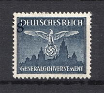 1943 Germany General Government Official Stamps 8 Gr (Shifted Value, Error, MNH)