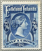 1898, 2 s. 6 d., deep blue, MH, wmk Crown CC, perf. 14, fresh, well centred, VF!