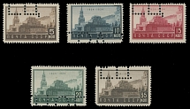 1934, Lenin Mausoleum, 5k-35k, complete set of five, each stamps with a part of