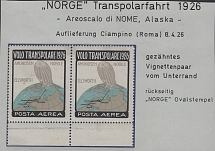Arctic. 1926. 6 Vignettes (a pair of teeth, three without teeth and one stamp with two colors missing). Airship flight