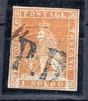 TOSCANA, Michel no.: 2y USED, Cat. value: 2000€