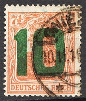 1919 Poland `10` on Germany Stamp (CV $200, Cancelled)