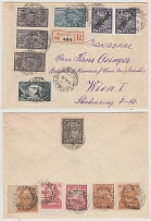 1922 RSFSR. Registered letter (envelope). Moscow - Vienna. Interesting, widely f