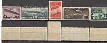 1931 USSR. Airship. Soloviev 373 - 377. A series of 5 stamps. Condition **.