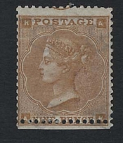 GB - Victoria 1862 9d bistre sg86 'AK' good fresh mint centred low, trace margin