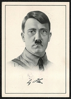 1938 The Führer and Reich Chancellor, Adolf Hitler special card for Hitler's 49th birthday
