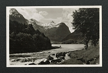 1936 Norway is a Fairyland postcard wit Advertising postmark Telephone Saves Time and Money