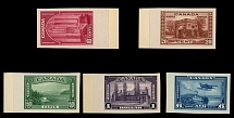Canada, 1938, Pictorial issue, 10c-$1 and air post 6c, cplt set of plate proofs