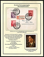 1943 Adolf Hitler, Bohemia and Moravia stamps used in General Government