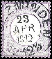 1 / 4 Gr. Violet, fresh stamp with brilliant colours with perfect centric