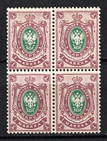 1901-16 1M Russian Finland (Block of Four, Signed, MNH/MH)
