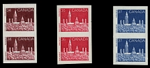 Canada, 1985-88, Parliament, 34c, 36c and 37c, vertical imperf pairs of coil