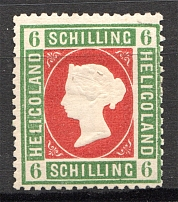 1869-73 Heligoland Germany 6 Sh (Red)