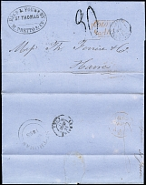 DOMINICAN REPUBLIC-FRANCE: 1855, Entire letter from Santo Domingo to Le Havre,