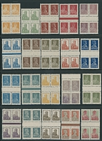 1925, definitive issue, 1k-5r, complete set of 22, including both 10k stamps,