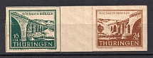 1946 Thuringia, Soviet Russian Zone of Occupation, Germany (Gutter-Pair, CV $20, MNH)