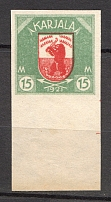 1922 Russia Provisional Government of Karelia Civil War 15 M (Probe, Proof, MNH)