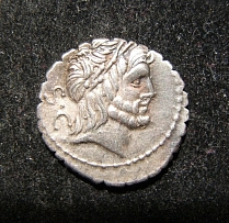 Roman Republic Antonius Balbus ancient AR serrate Denarius Cr 364/1d, Sy 742b EF