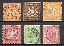 1859-73 Wurttemberg Germany (Cancelled)