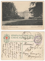 1915 Russian Empire. Postal (post card. Red Cross. St. Eugene). Tsarskoye Selo -