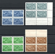 1943 Vitus Bering Blocks of Four (Full Set, MNH)