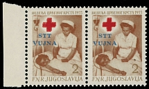 Yugoslavia - Trieste (Zone B), Postal Tax stamps, 1953, Red Cross, ovpt on 2d