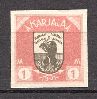 1922 Russia Provisional Government of Karelia Civil War 1 M (Probe, Proof, MNH)